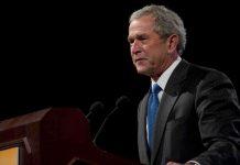 Military Veteran Confronts George W. Bush on Camera