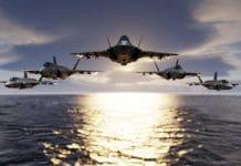 Russian Fighter Jet Escorts U.S. Bombers Away